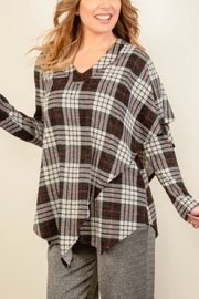 Pure Essence Tartan CapeTop - Front cropped