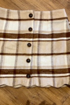 Mine and E&M Tartan Check Button Down Mini Skirt - Product List Image