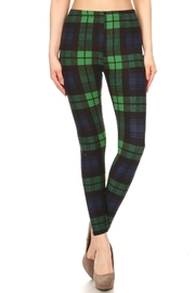 HGG Tartan-Green Plaid Leggings - Product Mini Image
