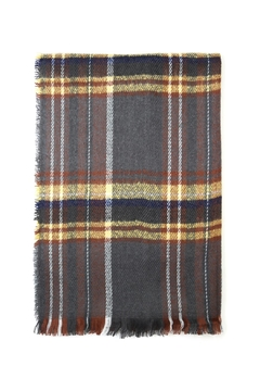 Shoptiques Product: Tartan Plaid Fringed-Scarf