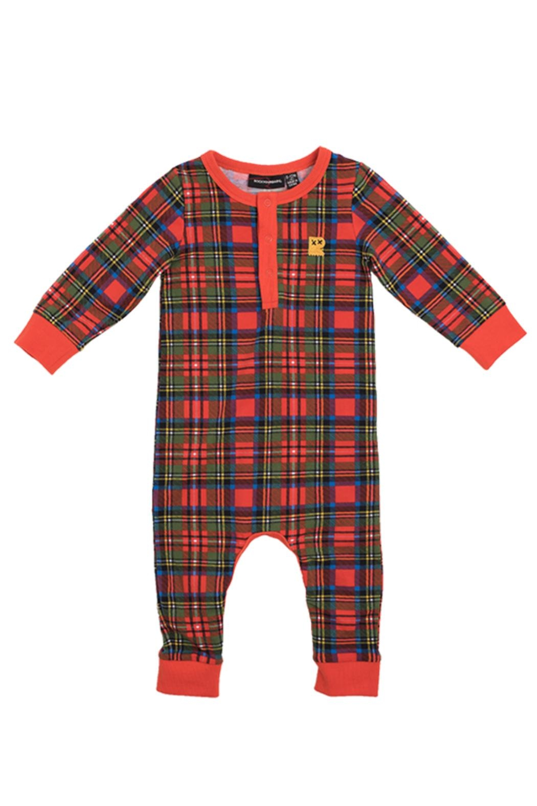 Rock Your Baby Tartan Playsuit - Front Cropped Image