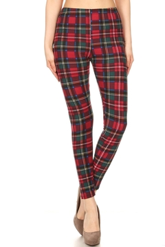 Shoptiques Product: Tartan-Red Plaid Legging