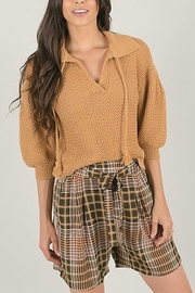 Space46 Tartan short - Front cropped