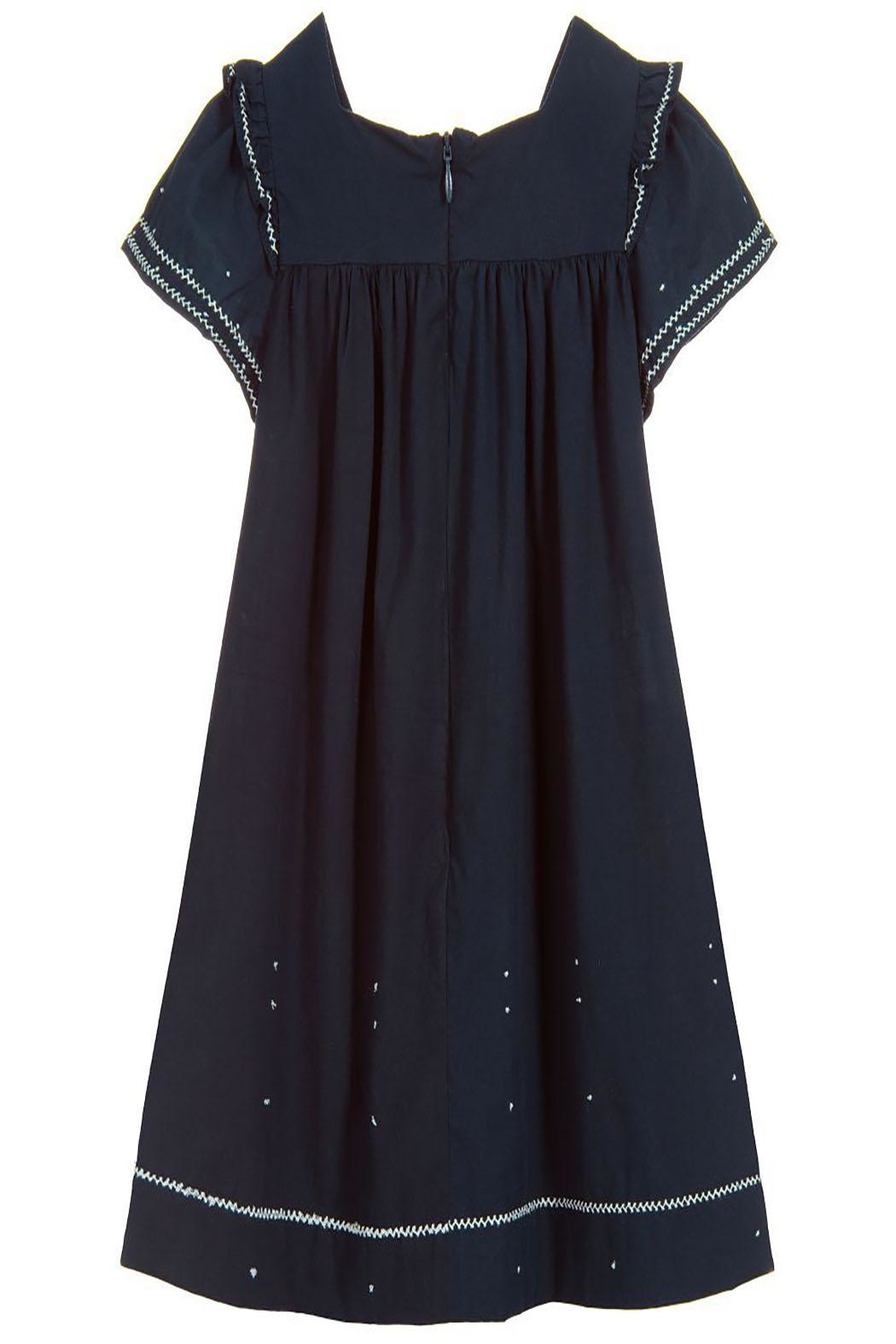 Tartine et Chocolat Midnight Blue Dress - Side Cropped Image