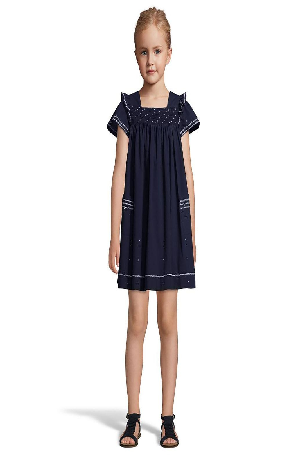 Tartine et Chocolat Midnight Blue Dress - Front Full Image