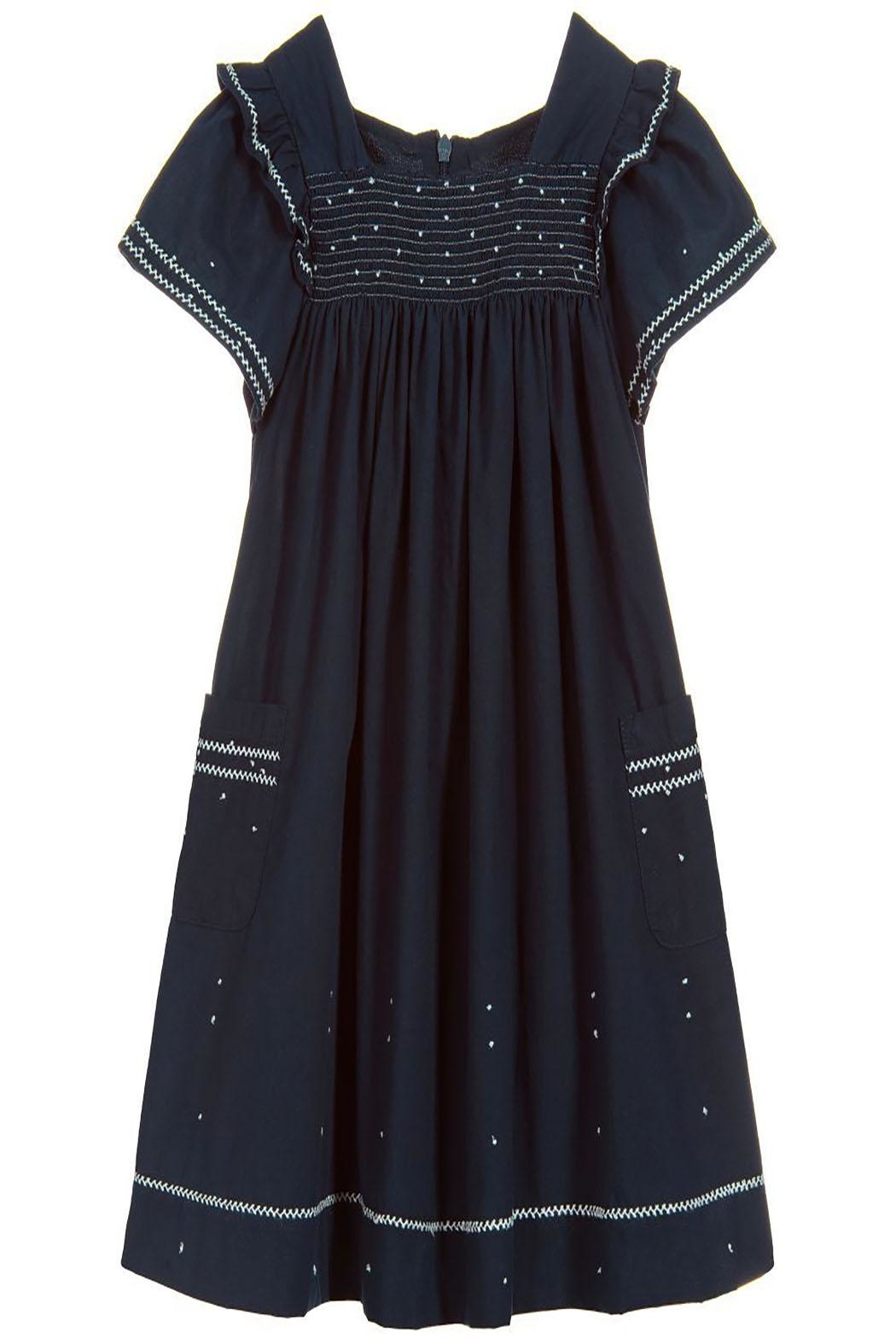 Tartine et Chocolat Midnight Blue Dress - Main Image
