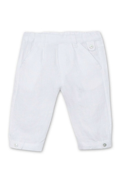 Tartine et Chocolat White Linen Trousers - Product List Image