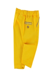 Tartine et Chocolat Yellow Twill Trousers - Side cropped