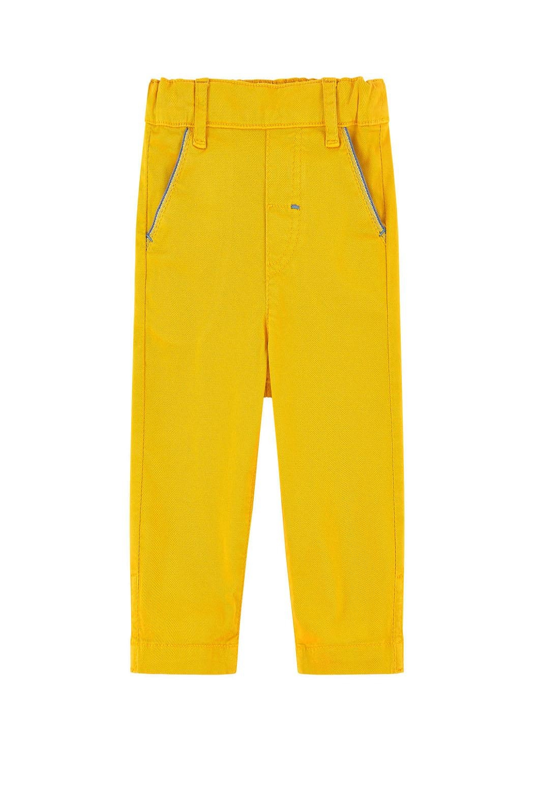 Tartine et Chocolat Yellow Twill Trousers - Front Cropped Image