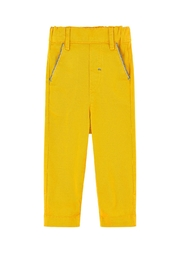 Tartine et Chocolat Yellow Twill Trousers - Front cropped