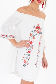 Black Swan Taryn- Embroidered off shoulder dress - Product Mini Image