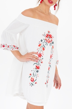Shoptiques Product: Taryn- Embroidered off shoulder dress