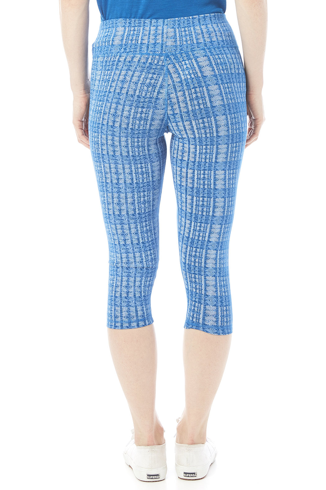 Tasc Performance Print Bamboo Crop Pant - Back Cropped Image