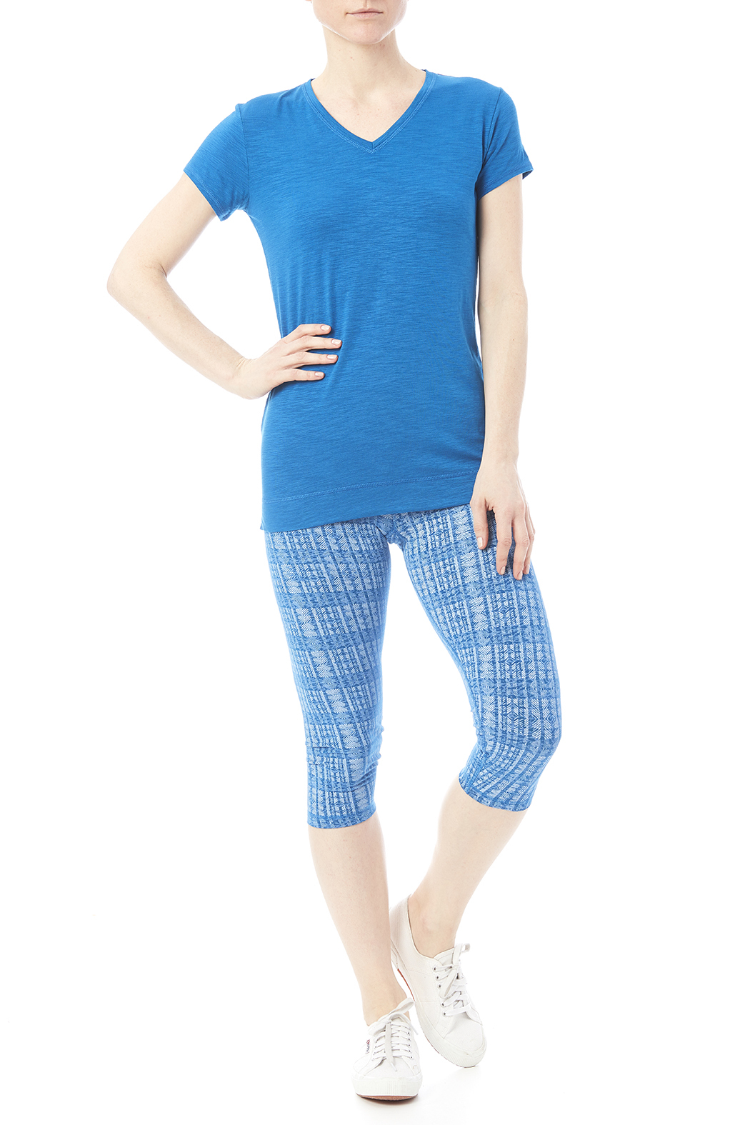 Tasc Performance Print Bamboo Crop Pant - Front Full Image