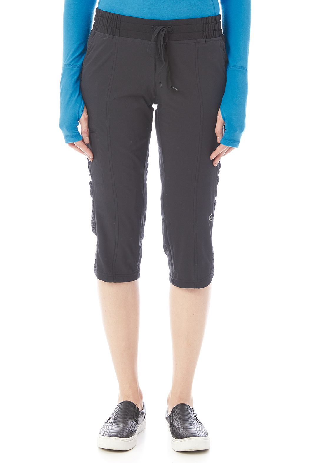 Tasc Performance Woven Stretch Capri - Side Cropped Image