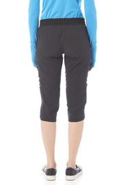Tasc Performance Woven Stretch Capri - Back cropped