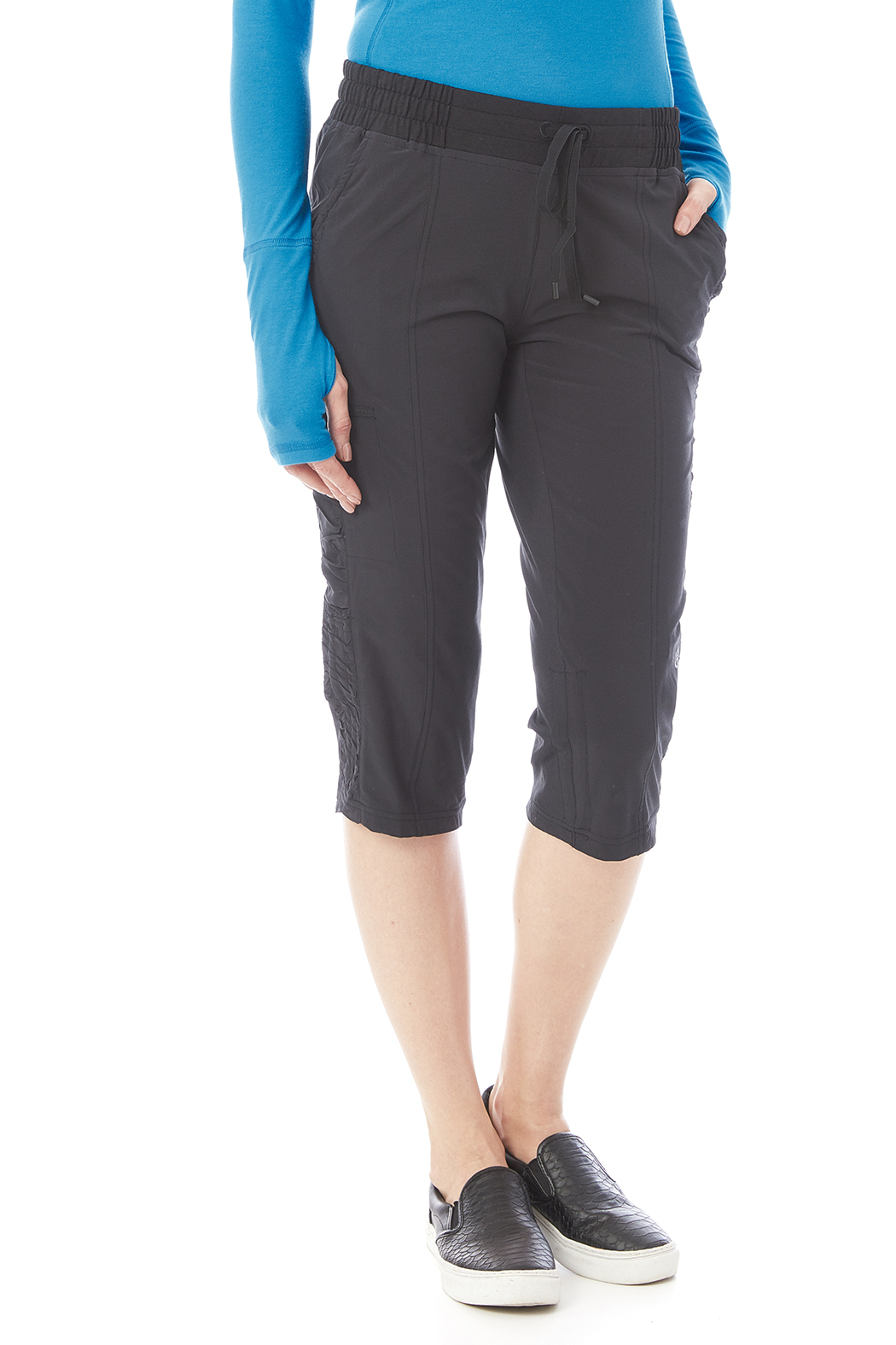 Tasc Performance Woven Stretch Capri - Front Cropped Image