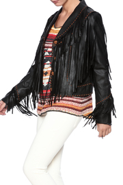 Tasha Polizzi Fringe Leather Jacket - Product Mini Image