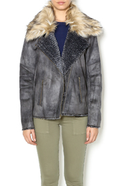 Tasha Polizzi Graphite Bomber Jacket - Product Mini Image