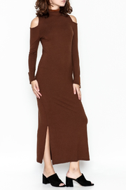 Tasha Polizzi Sueded Shoulder Dress - Product Mini Image
