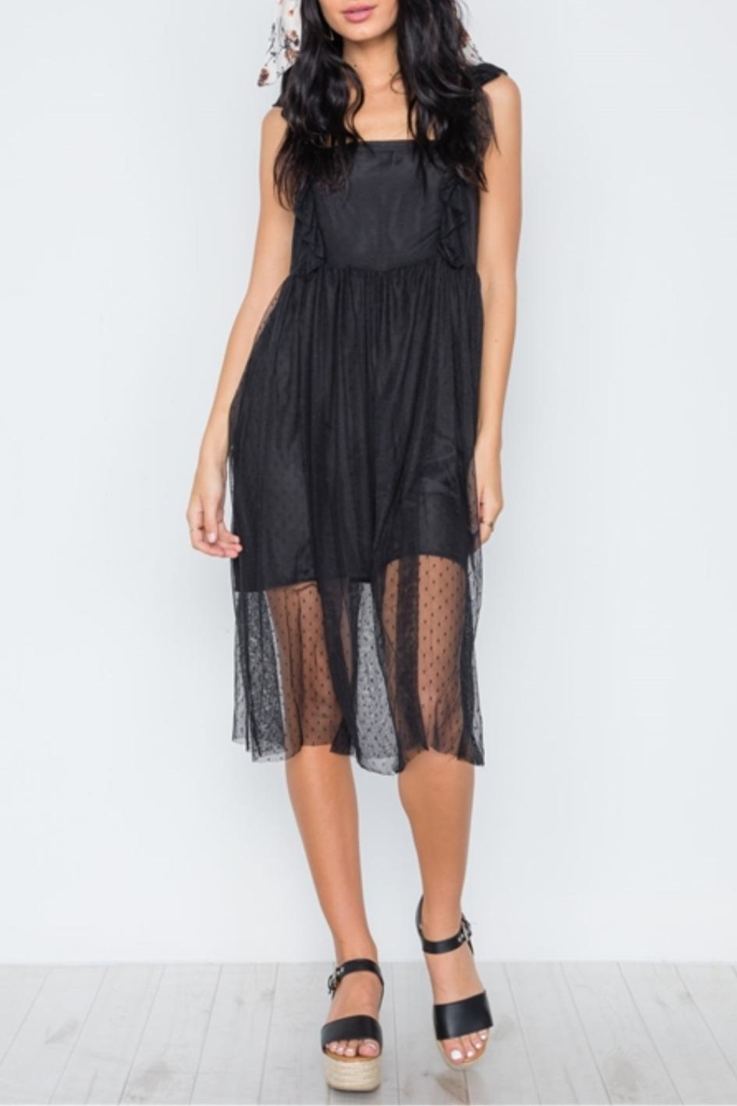 Renamed Clothing Downtown Lace Midi - Front Full Image