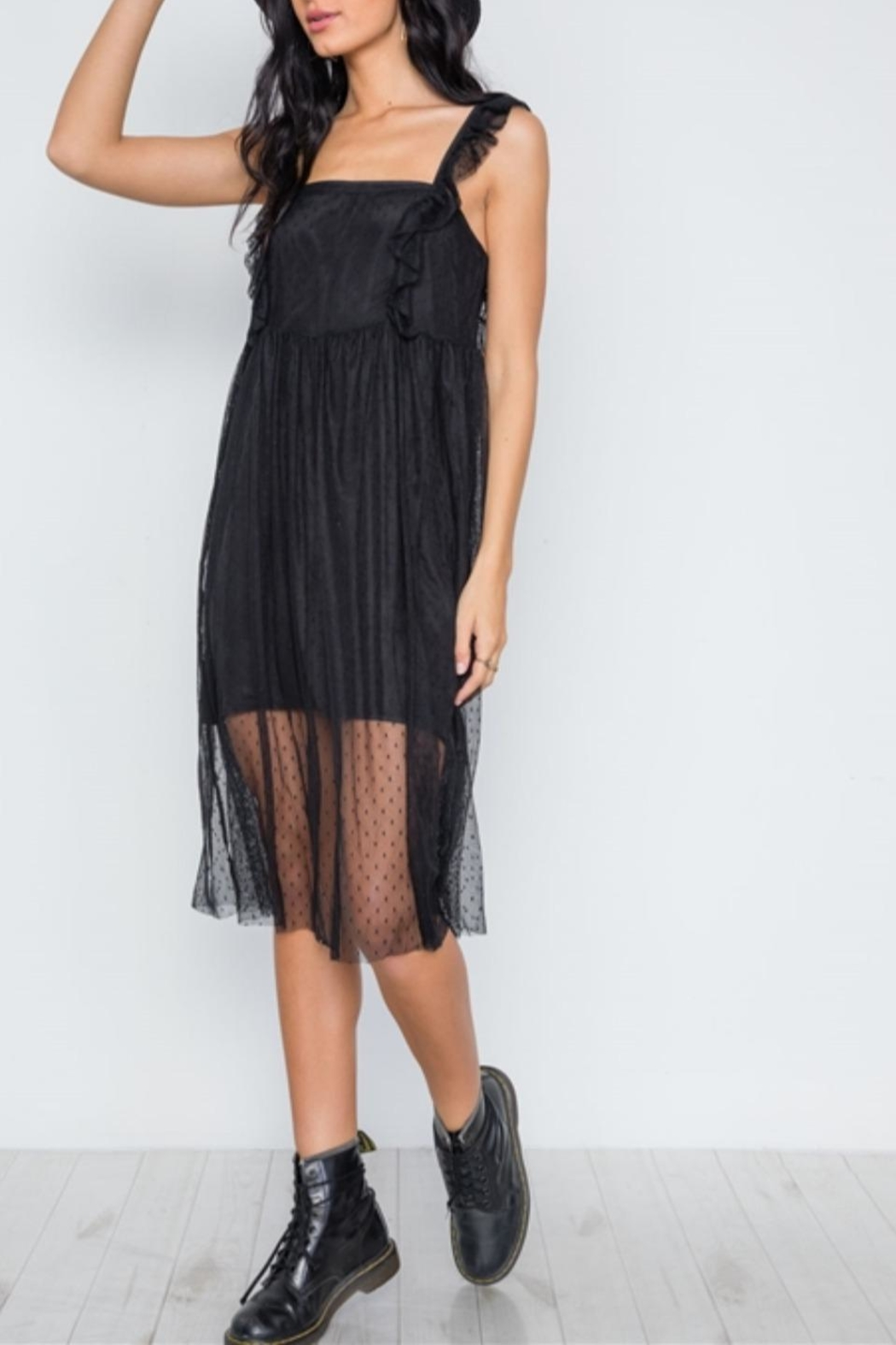 Renamed Clothing Downtown Lace Midi - Side Cropped Image