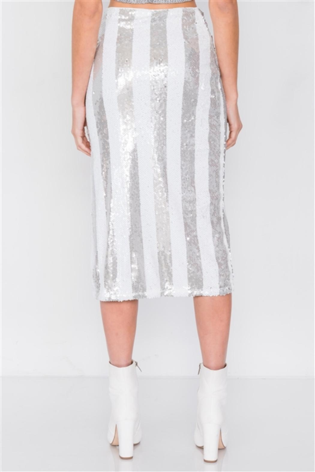 etophe studios Electric Sequin Skirt - Side Cropped Image