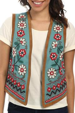 Shoptiques Product: Embroidered and Beaded Vest