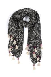 Shiraleah Tassel Accent Scarf - Product Mini Image