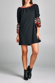 Velzera Tassel Bell-Sleeve Tunic-Dress - Product Mini Image