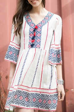 Cousin Earl Tassel Dress with Ruffle Sleeve - Product List Image