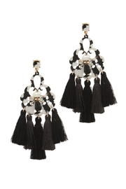Nadya's Closet Tassel Drop Earrings - Product Mini Image
