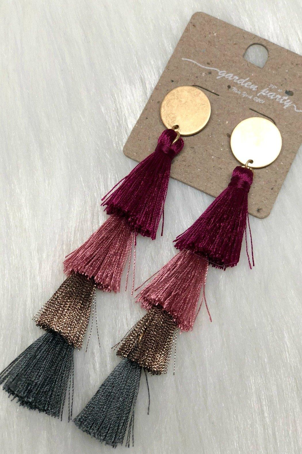 Izzie's Boutique Tassel Earrings - Front Cropped Image