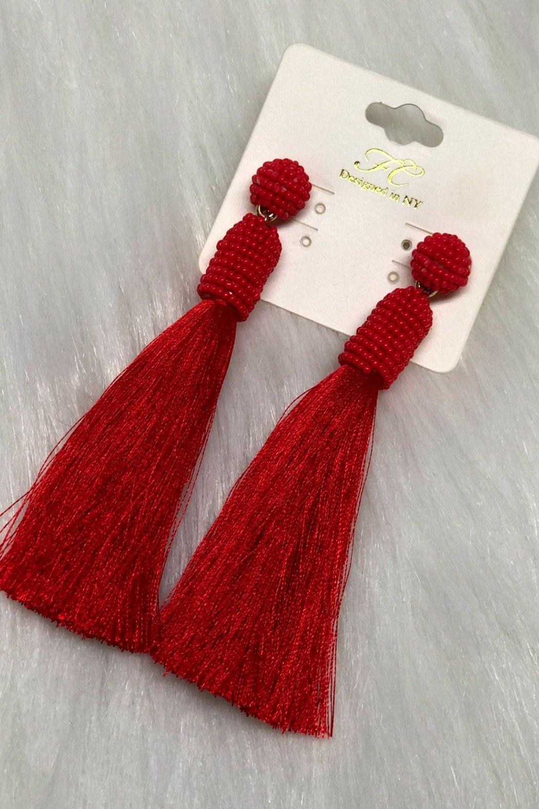 Izzie's Boutique Tassel Earrings - Main Image