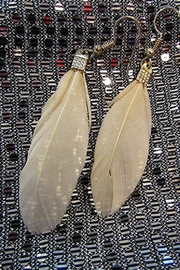 KIMBALS TASSEL FEATHER NECKLACE - Front full body