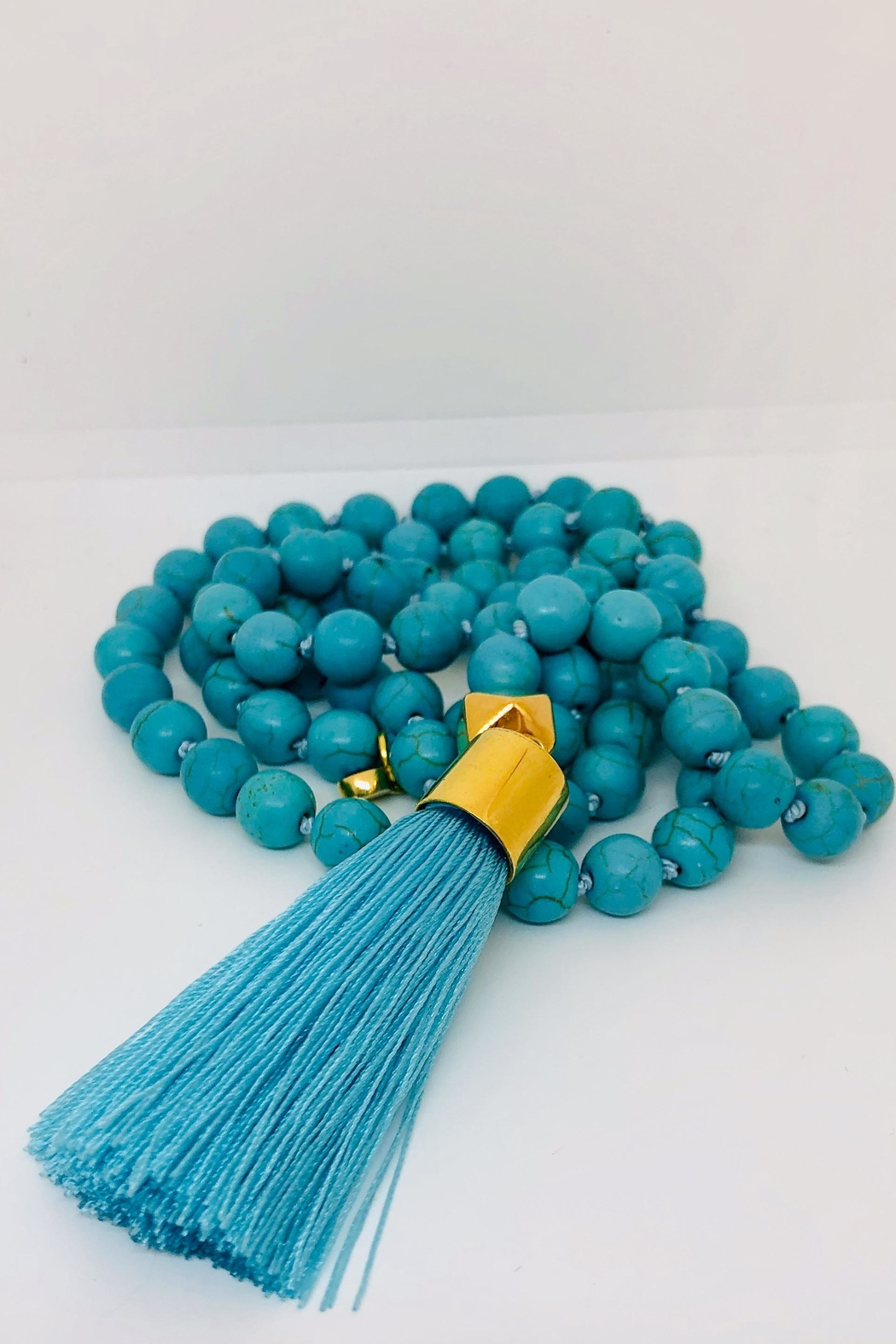 Abeja Tassel Glass Beads - Front Cropped Image