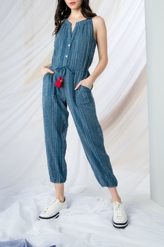 THML Clothing Tassel Halter Jumpsuit - Product List Image