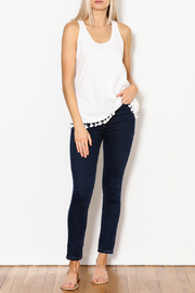 Jade Tassel Hem Knit Tank - Side cropped