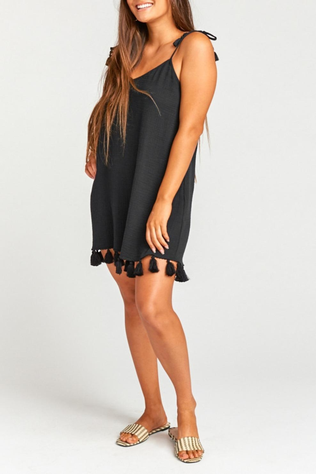 Show Me Your Mumu Tassel Mini Dress - Front Cropped Image