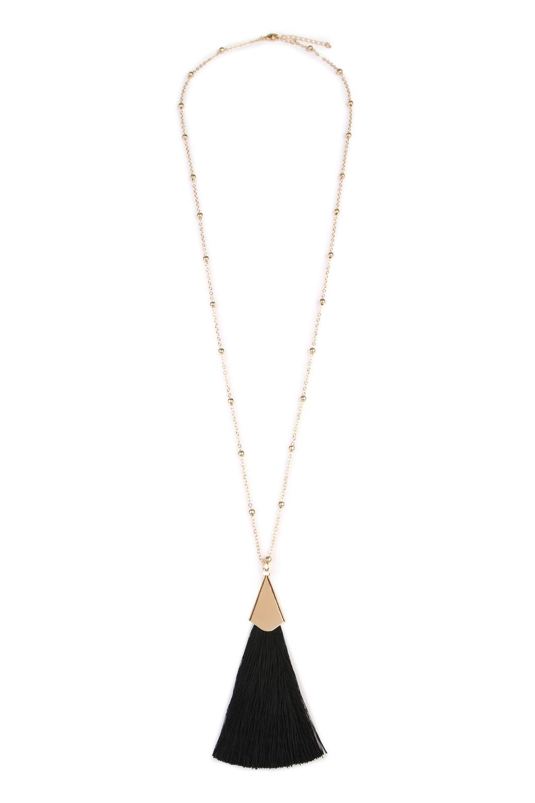 Riah Fashion Tassel Necklace - Front Cropped Image