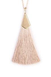 Riah Fashion Tassel Necklace - Front full body