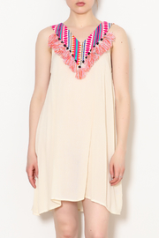 America & Beyond Tassel Neckline Dress - Product Mini Image