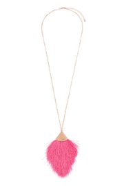 Riah Fashion Tassel-Pendant Long-Necklace - Front cropped