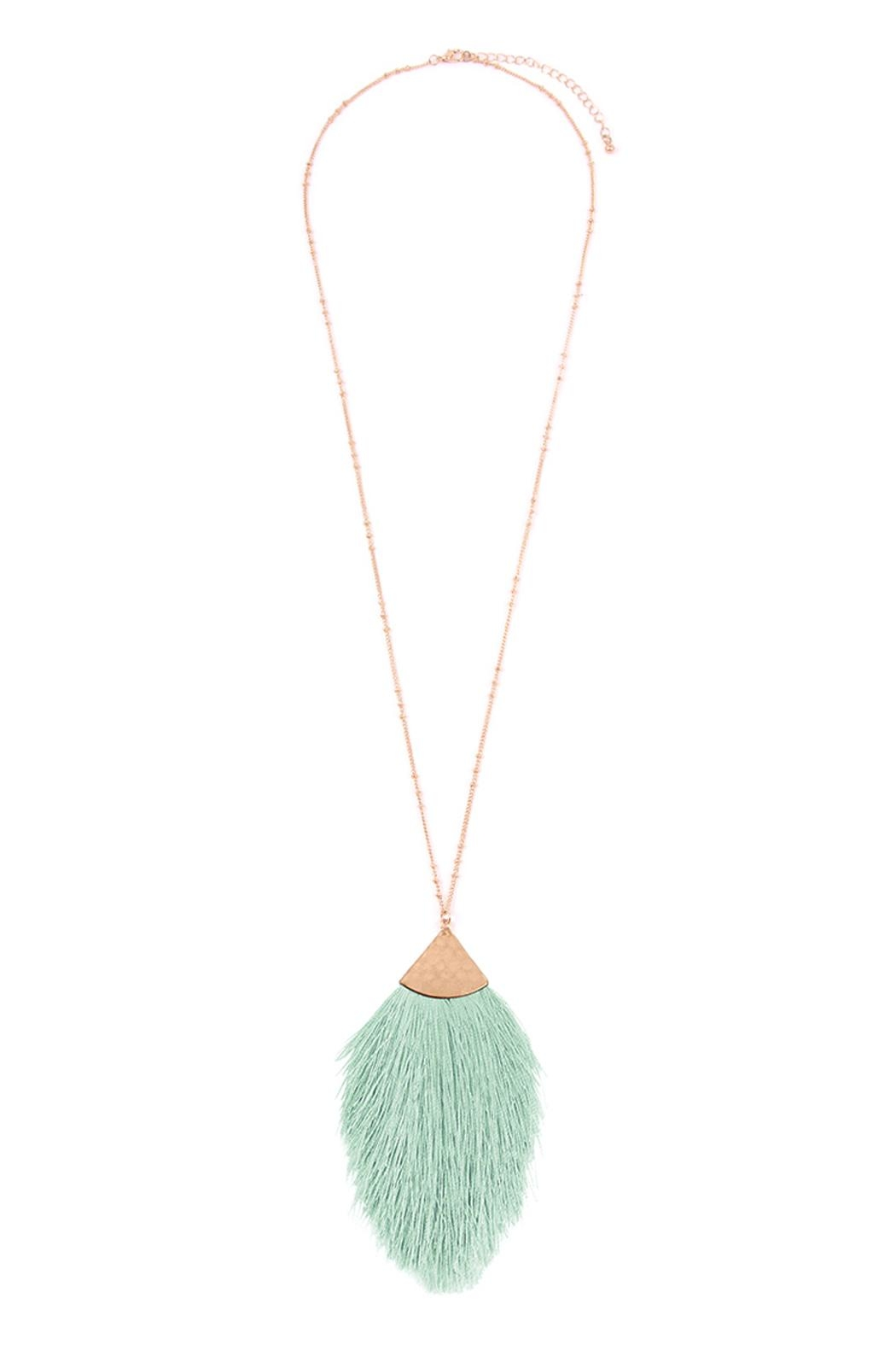Riah Fashion Tassel-Pendant Long-Necklace - Front Cropped Image