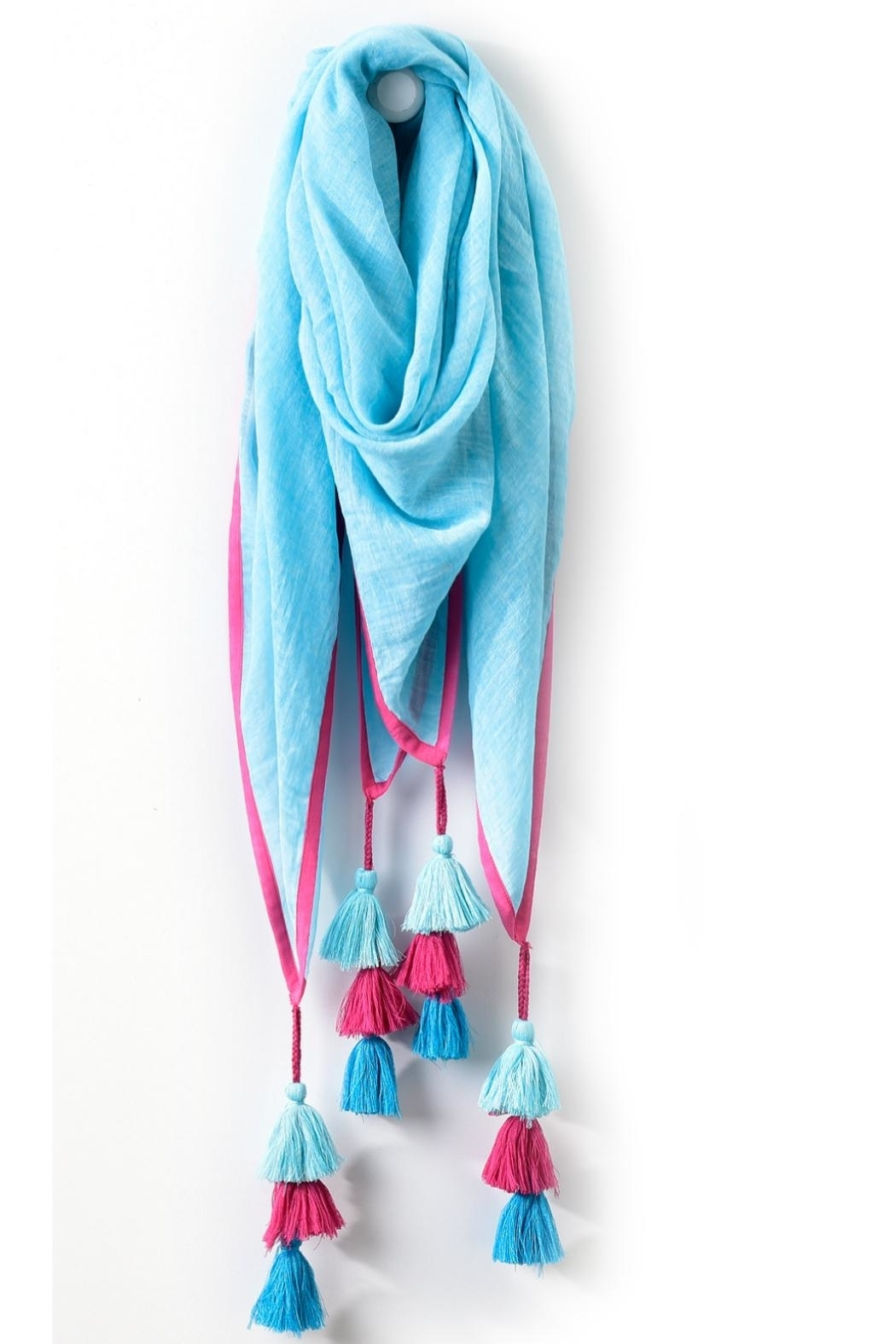 Charlie Paige Tassel Scarf - Front Full Image