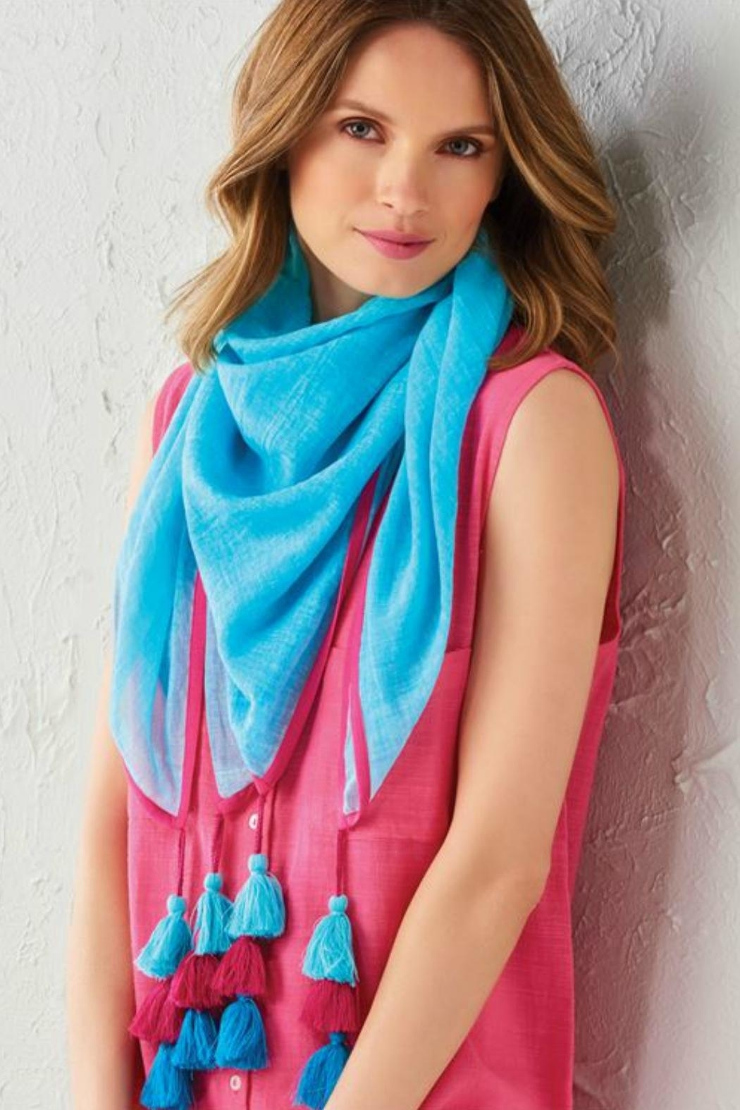 Charlie Paige Tassel Scarf - Front Cropped Image