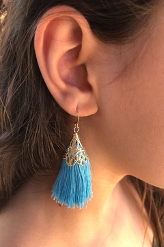 Fashion Jewelry Tassel Statement Earrings - Alternate List Image