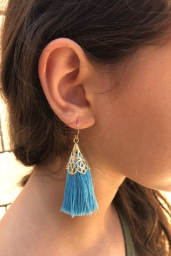 Fashion Jewelry Tassel Statement Earrings - Product List Image