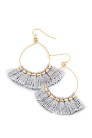 Wild Lilies Jewelry  Tassel Teardrop Hoops - Product Mini Image