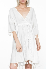 En Creme Tassel Trim Coverup - Product Mini Image